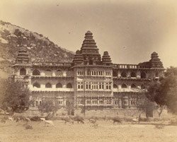 Back view of the Raja Mahal (south), Chandragiri, North Arcot District